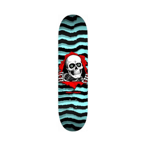 "Powell Peralta Skateboard Deck Ripper Pastel Blue 8.5"" x 32.08""-50-50 Skate Shop"