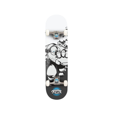 "Seven Skateboard Complete Wind Up Robot V2 7.25""-50-50 Skate Shop"