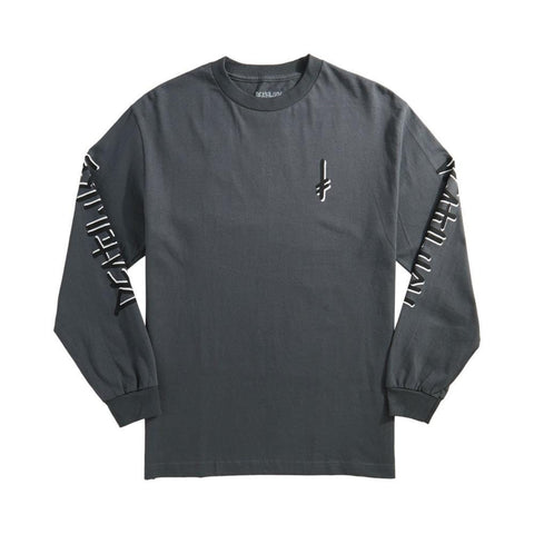 Deathwish Tee - Landmark Charcoal Long Sleeve - 50-50 Skate Shop