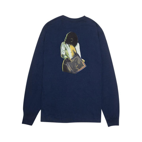 Fucking Awesome Skynet Long Sleeve Tee Navy - 50-50 Skate Shop