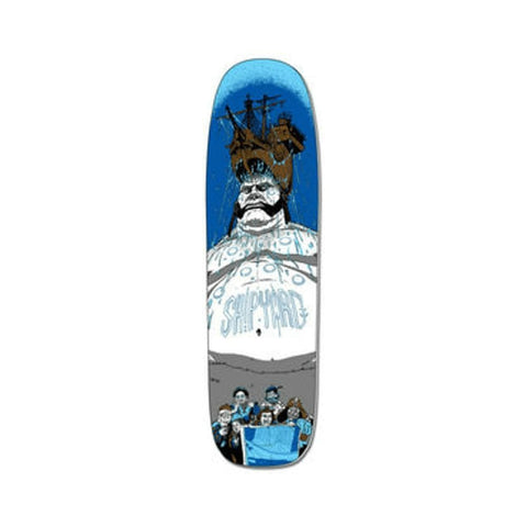 "Shipyard Skateboard Deck WK Shape Sea Giant 9.0"" x 32.5"" Blue-50-50 Skate Shop"