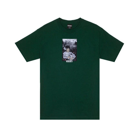 Hockey Lamb Girl T-Shirt Green - 50-50 Skate Shop