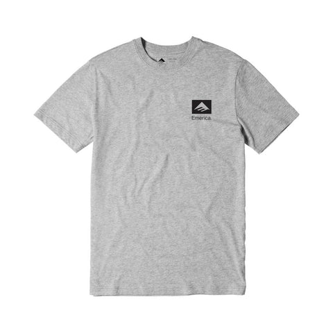 Emerica Brand Combo Tee Grey Black - 50-50 Skate Shop