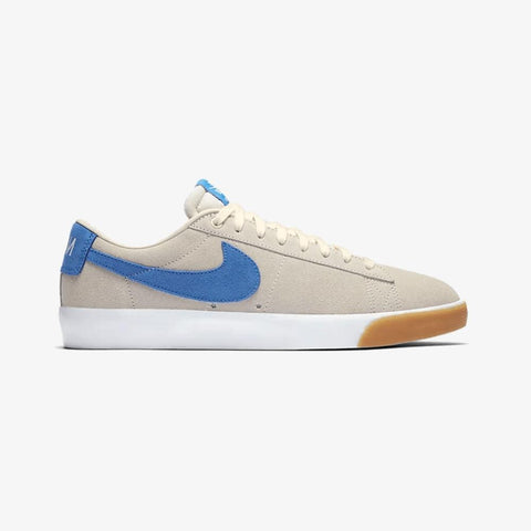 Nike SB Zoom Blazer Low GT Pale Ivory Pacific Blue White-50-50 Skate Shop