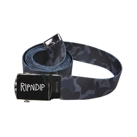 Ripndip Nerm Camo Web Belt Black Camo-50-50 Skate Shop