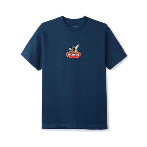Butter Goods Cherub Tee Harbour Blue-50-50 Skate Shop