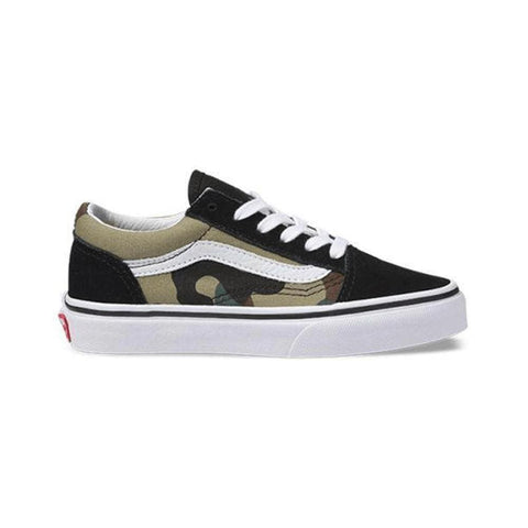 Vans Kids Old Skool (Woodland Camo) Black Woodland - 50-50 Skate Shop
