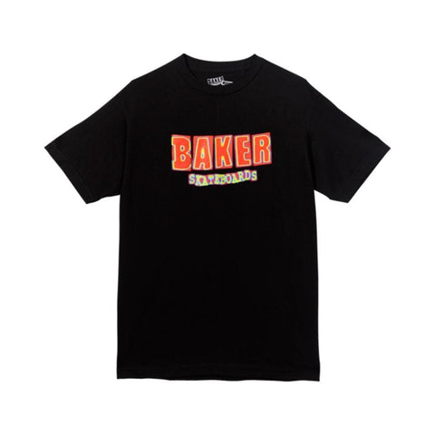 Baker Tee Brand Logo Infrared Black-50-50 Skate Shop