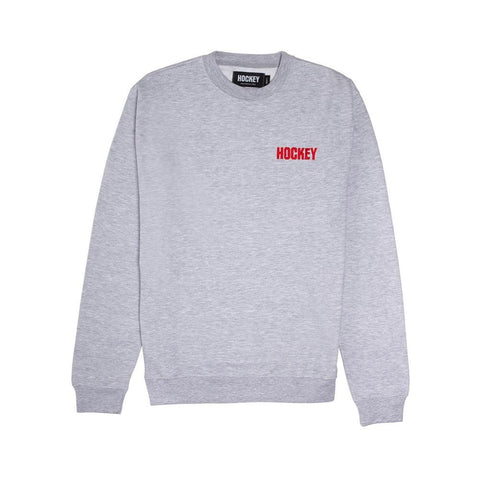 Hockey Standard Issue Crewneck Sweatshirt Grey Heather - 50-50 Skate Shop