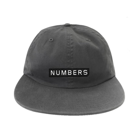 Numbers Edition Logotype Twill 6 Panel Hat Grey - 50-50 Skate Shop