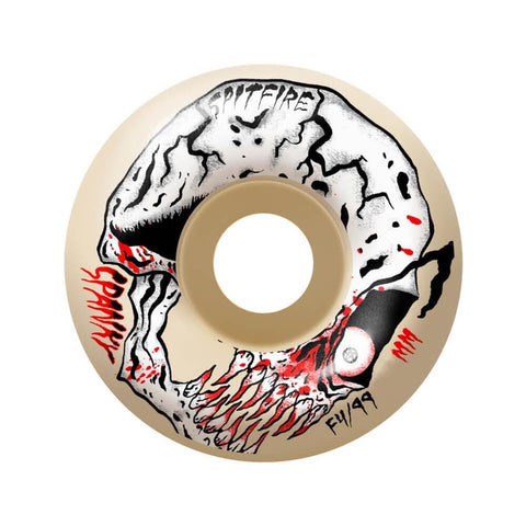 Spitfire Wheels F4 99D Neckface Spanky 54mm-50-50 Skate Shop