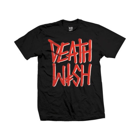 Deathwish Tee - Deathstack Black Red - 50-50 Skate Shop