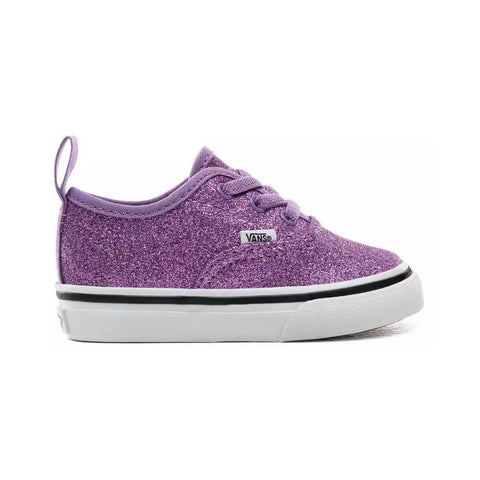 Vans Toddler Authentic Glitter Fairy Wren True White Purple - 50-50 Skate Shop