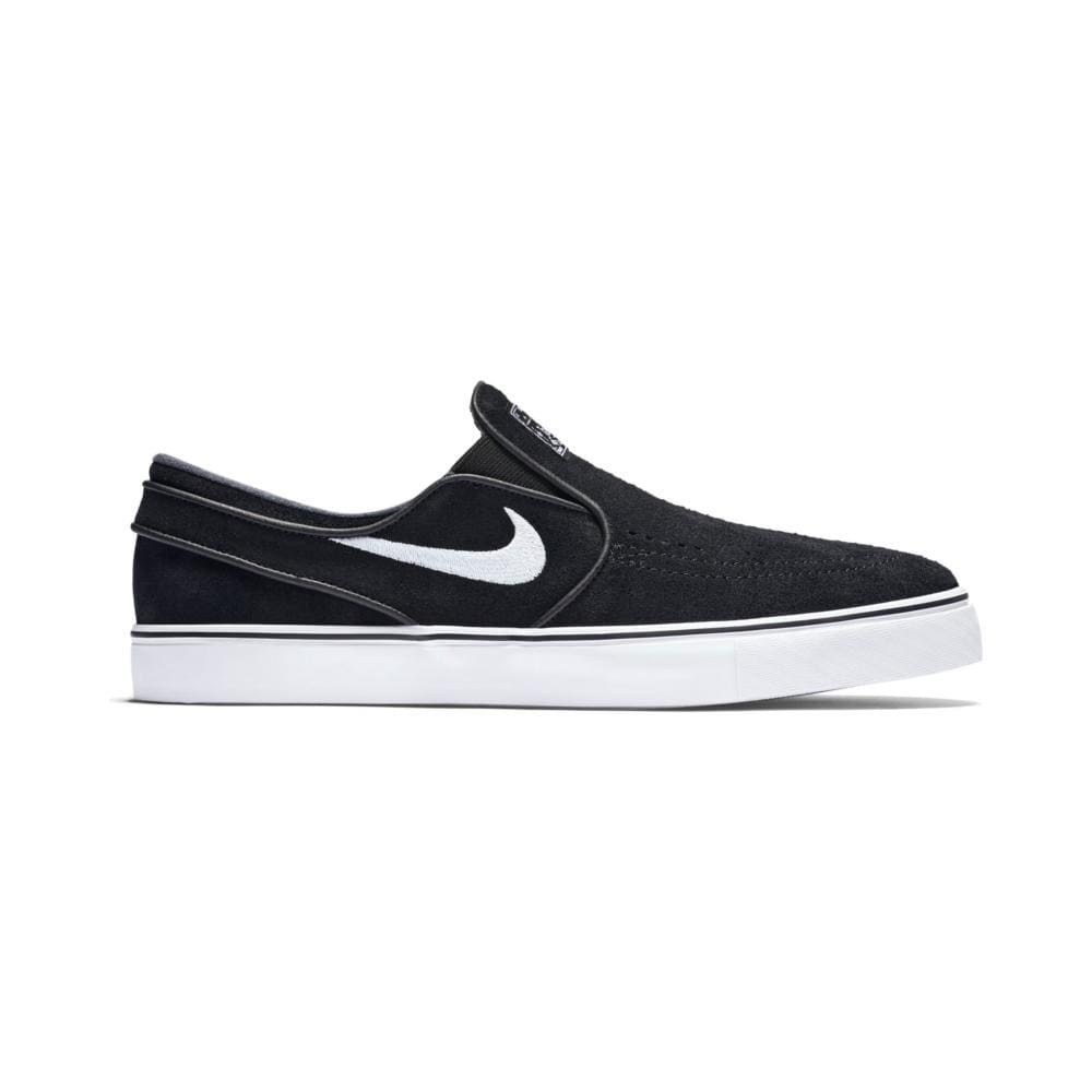 NIKE SB ZOOM JANOSKI SLIP ON SUEDE BLACK/WHITE-50-50 Skate Shop