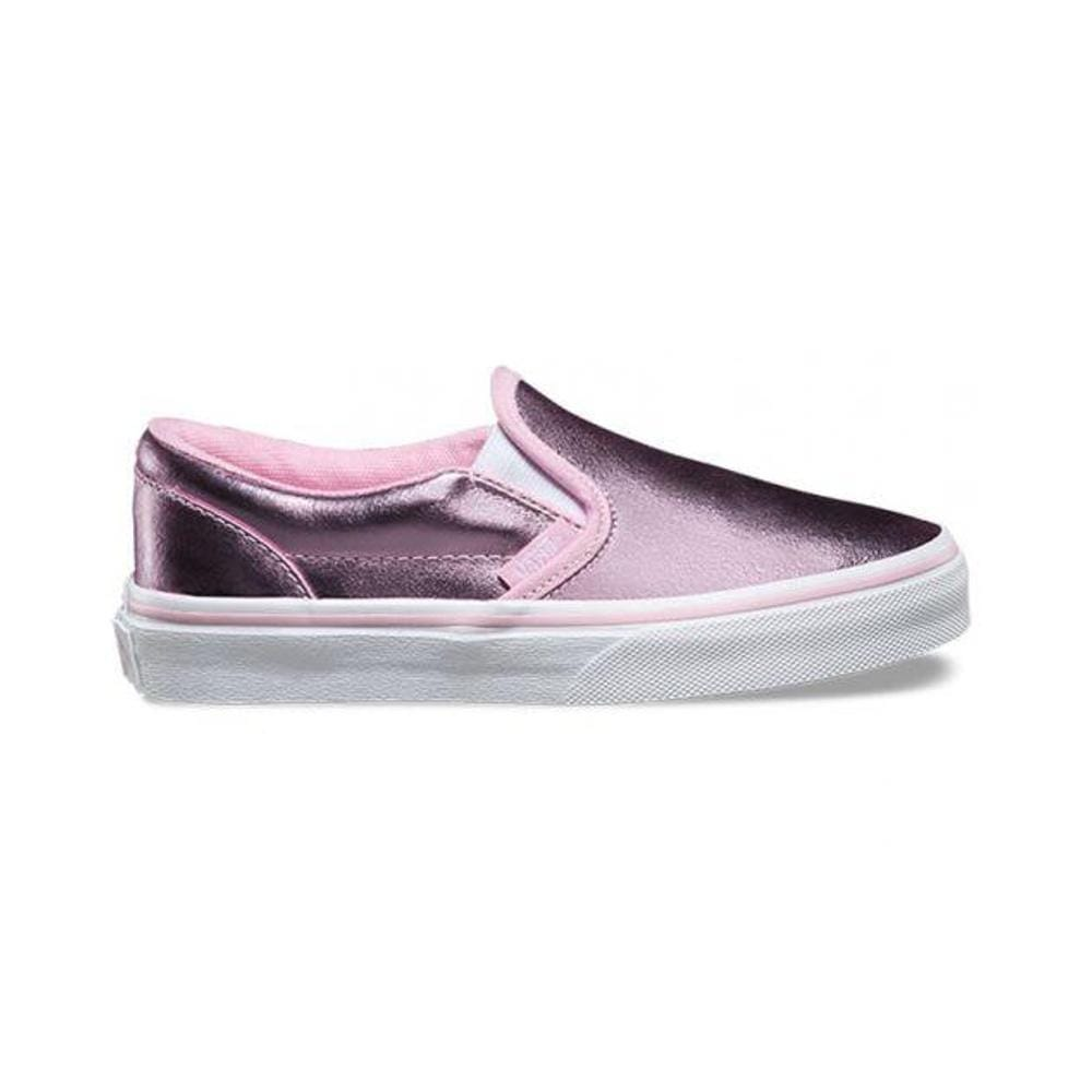 0206229769 Vans Kids Classic Slip On (Metallic) Pink True White – 50-50 Skate Shop