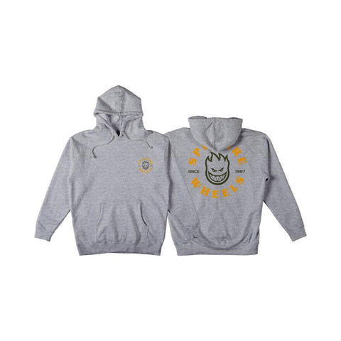 Spitfire Hoodie Youth Bighead Classic Heather Grey Gold-50-50 Skate Shop