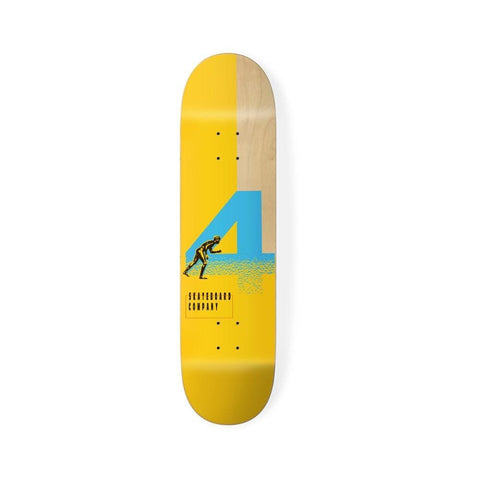 "4 Skateboard Skateboard Deck Naples Board Yellow 8.0"" - 50-50 Skate Shop"