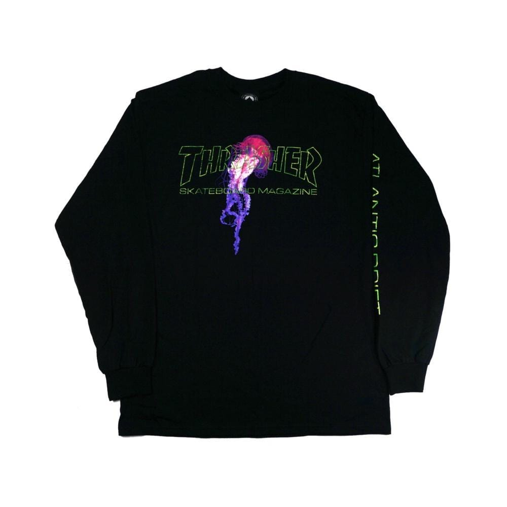 Thrasher Atlantic Drift Long Sleeve Tee Black