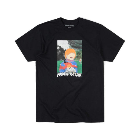 Fucking Awesome Painted Aidan Tee Black - 50-50 Skate Shop