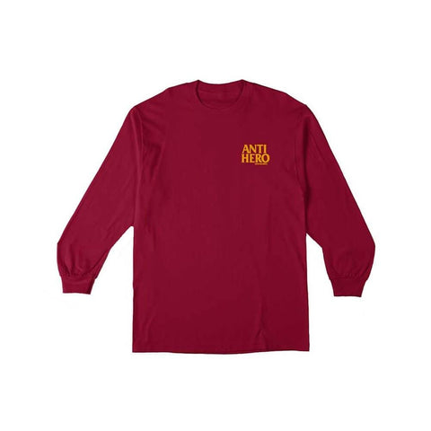 Antihero Youth Long Sleeve Tee LIL Blackhero Red-50-50 Skate Shop