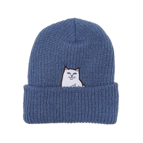 Ripndip Beanie Lord Nermal Rib Blue - 50-50 Skate Shop