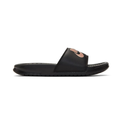 Nike SB Womens Benassi Slides Just Do It Black Rose Gold-50-50 Skate Shop
