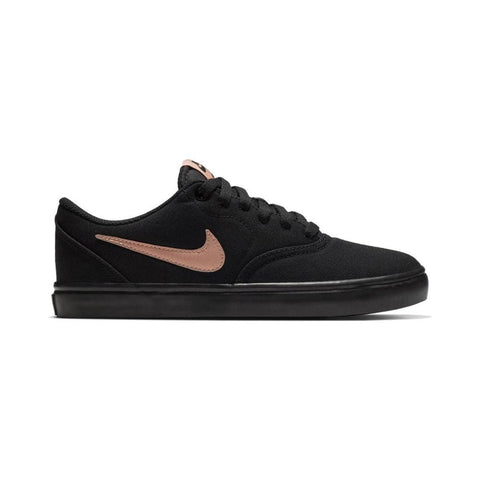Nike SB Womens Check Solarsoft Canvas Black Metalic Red Bronze Black-50-50 Skate Shop