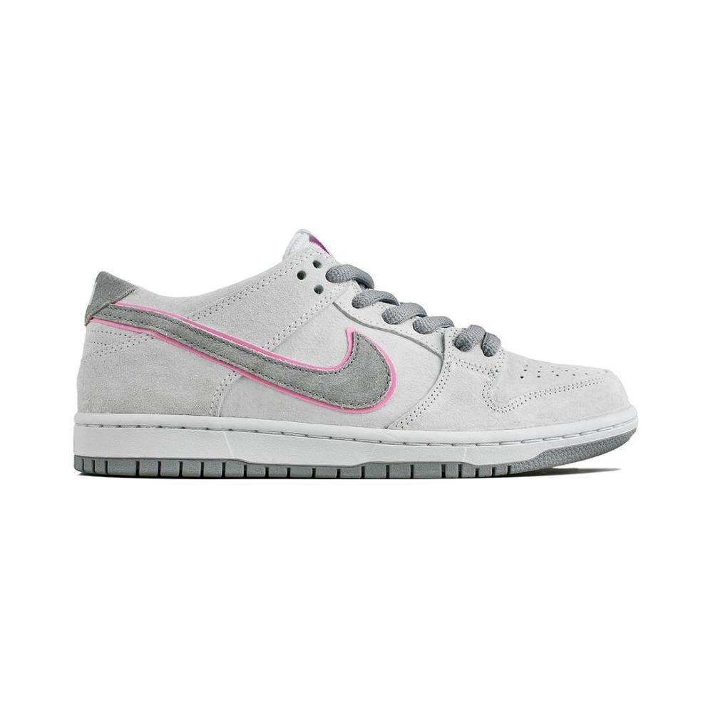 best cheap 353ed 8d99f Nike SB Zoom Dunk Low Pro IW White/Perfect Pink-FLT Silver