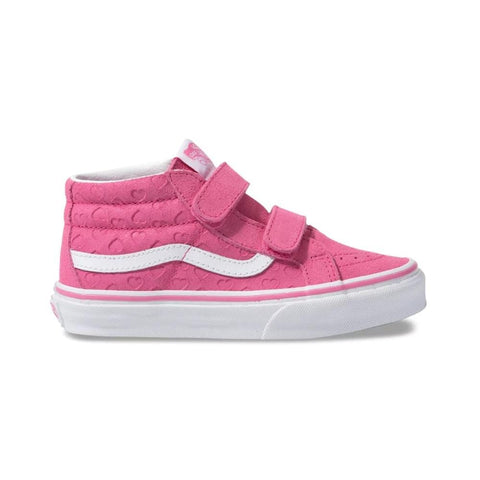 Vans Toddlers Sk8-Mid V (Hearts) Azalea Pink True White - 50-50 Skate Shop