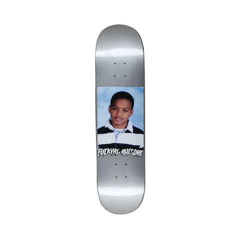 "Fucking Awesome Tyshawn Class Photo Skateboard Deck Dipped Silver 8.18""-50-50 Skate Shop"