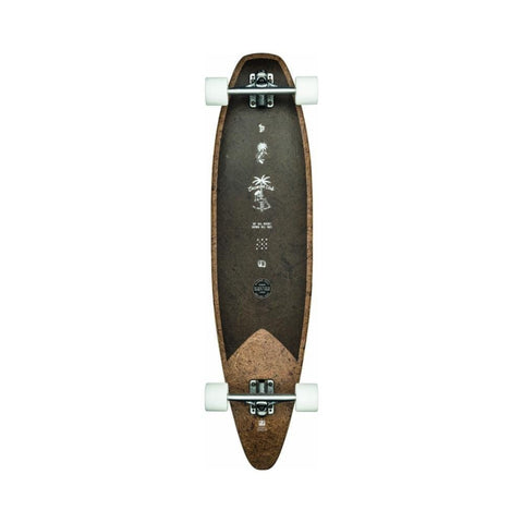 "Globe Skateboard Cruiser Complete Pinner Evo 40"" Coconut/Black-50-50 Skate Shop"