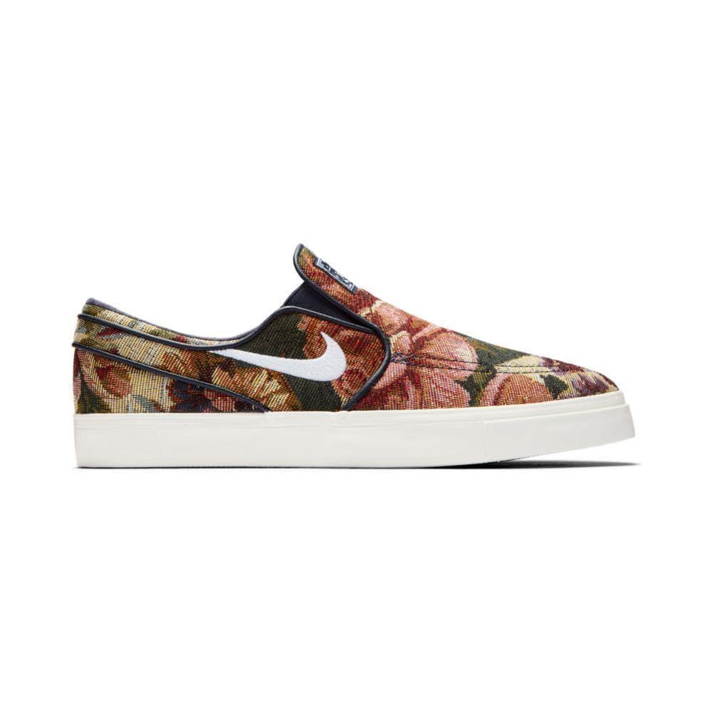 NIKE ZOOM JANOSKI SLIP ON CNVS PRM MULTI COLOUR/WHITE IVORY OBSIDIAN-50-50 Skate Shop