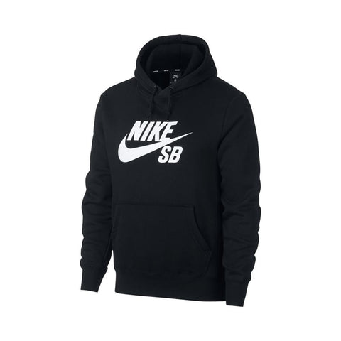 Nike SB Skateboard Icon Hoodie Black White-50-50 Skate Shop