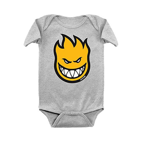 Spitfire Toddler Onesie Bighead Fill Heather Grey-50-50 Skate Shop