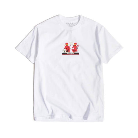 Hotel Blue Monkey Short Sleeve Tee White - 50-50 Skate Shop