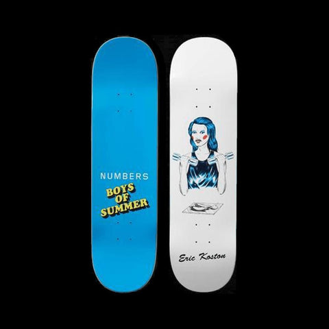 "Numbers Skateboard Deck Eric Koston Boys Of Summer 8.4"" x 32.1"" - 50-50 Skate Shop"