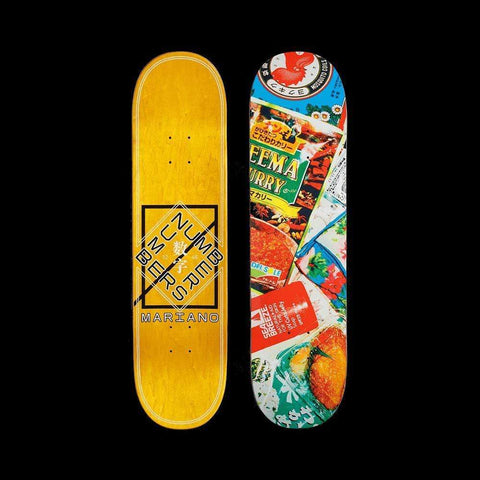 "Numbers Skateboard Deck Mariano Edition 6 Series 2 8.125"" x 31.56"" - 50-50 Skate Shop"