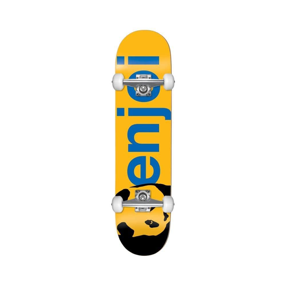 "Enjoi Panda Head Large Full Yellow 8.0""-50-50 Skate Shop"
