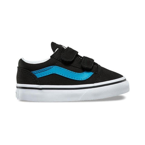Vans Toddler Old Skool V Black Vivid Blue - 50-50 Skate Shop