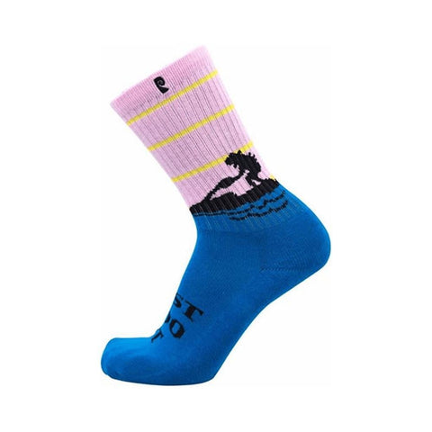 Psockadelic Socks Doo It Neon Single Pair-50-50 Skate Shop