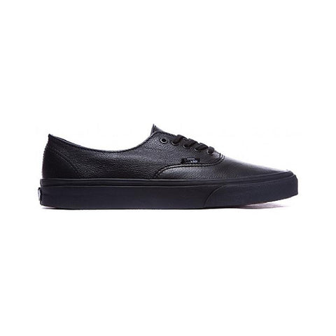 456afb6576 Vans Authentic Decon (Premium Leather) Black Black - 50-50 Skate Shop