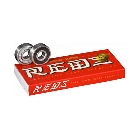 BONES® SUPER REDS® BEARINGS (8 PACK) - 50-50 Skate Shop