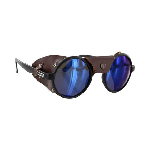 Happy Hour Sunglasses Jon Dickson Dusters Matte Black Brown Leather-50-50 Skate Shop