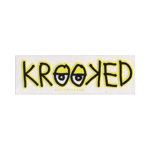 Krooked Sticker Eyes Medium Size (Each) - 50-50 Skate Shop