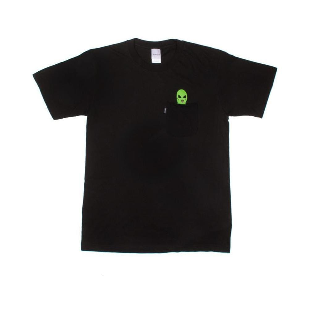 Ripndip Lord Alien Pocket Tee Black - 50-50 Skate Shop