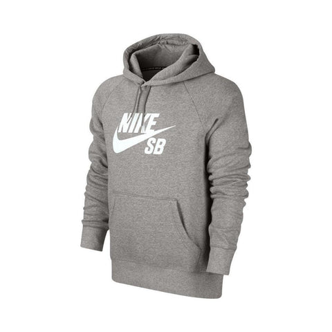 Nike SB Icon Pull Over Hoodie Grey