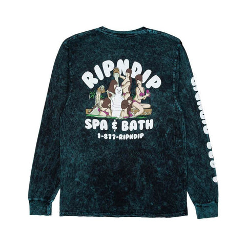 Ripndip Long Sleeve Tee Spa Day Hunter Mineral - 50-50 Skate Shop