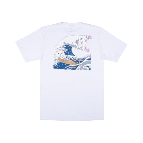 Ripndip Great Wave Tee White - 50-50 Skate Shop