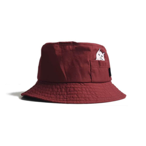 Ripndip Lord Nermal Bucket Hat Burgundy - 50-50 Skate Shop