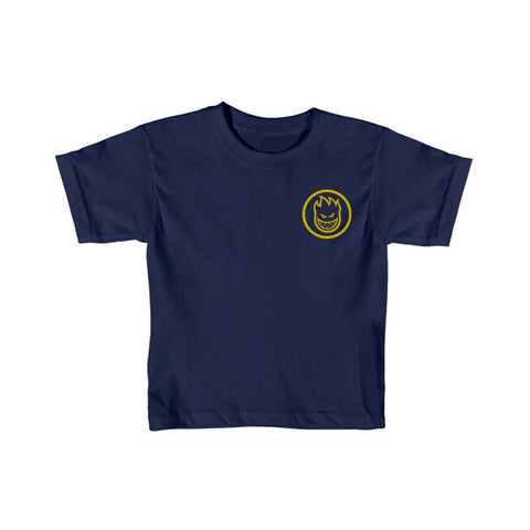 Spitfire Toddler Tee Classic Swirl Navy Yellow-50-50 Skate Shop